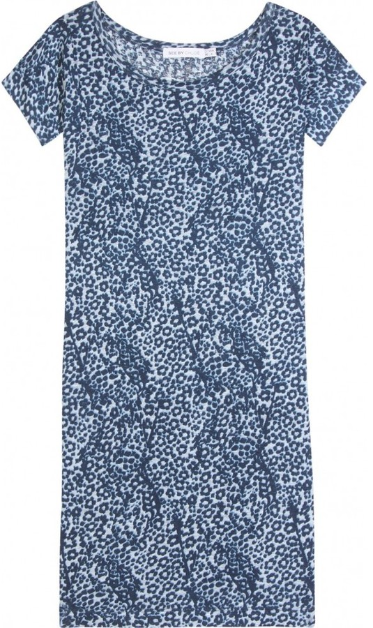 See by Chloé ANIMAL PRINT DRESS