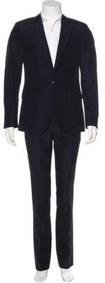 Calvin Klein Collection Textured Peak-Lapel Suit