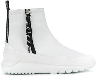 Hogan side zip ankle boots