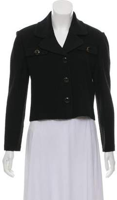 St. John Notch-Lapel Cropped Jacket