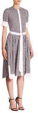 Thom Browne Short Sleeve Gingham Shirtdress $1,690 thestylecure.com