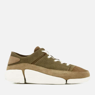 be1a026b0d63ae Clarks Men s Trigenic Evo Nubuck Trainers - Olive