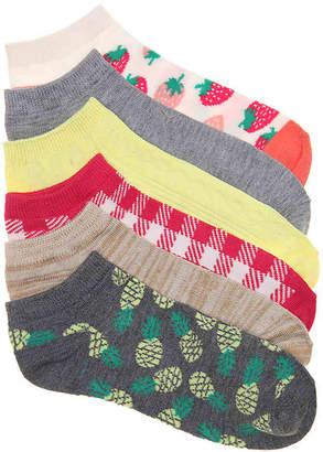 Kelly & Katie Pineapples No Show Socks - 6 Pack - Women's
