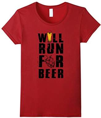 Will Run For Beer T-shirt - Funny Beer T-shirt