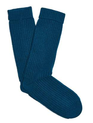 PEPPER & MAYNE Cable-knit cashmere socks