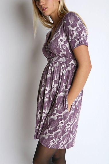 Kimchi Blue Knit Print Shirt Dress