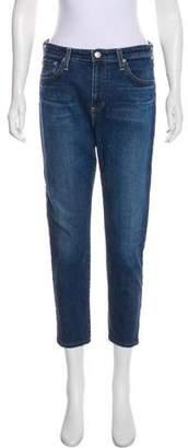 Alexa Chung Woman Faded Mid-rise Straight-leg Jeans Mid Denim Size 24 AlexaChung Tm0wj4oXB