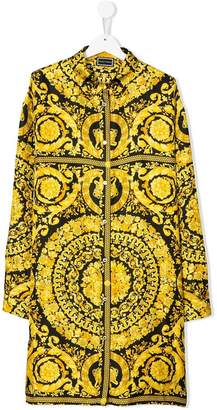 Versace TEEN baroque printed dress