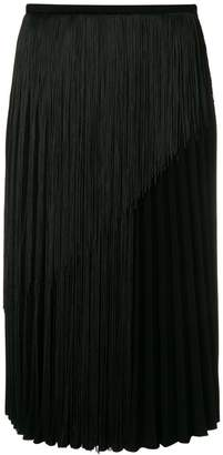 Marco De Vincenzo Cady fringed pleated skirt