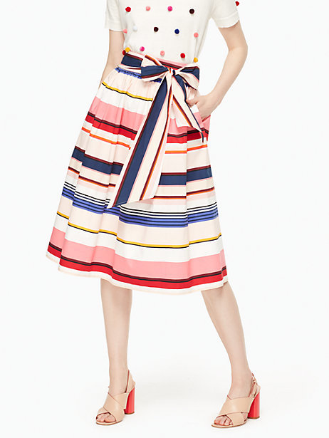 Berber stripe midi skirt