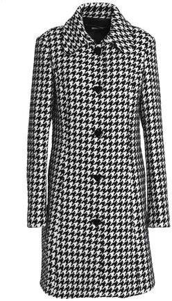 Houndstooth Tweed Coat