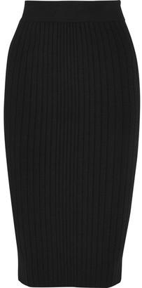 Cushnie et Ochs - Ribbed Jersey Skirt - Black $695 thestylecure.com