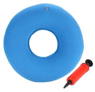 EECOO Inflatable Round Chair Pad Hip Support Hemorrhoid Seat Cushion With Pump, Designed to Relieve Backaches, Numbness and Discomfort (Blue)