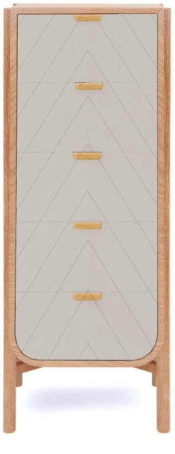 Hartô - Marius Kommode 50 cm, eiche / lichtgrau (RAL 7035)