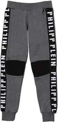Logo Bands Cotton Sweatpants