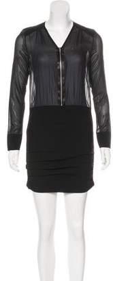IRO Silk Long Sleeve Dress