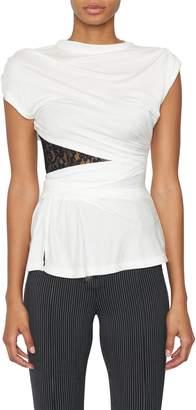 Alexander Wang Lace Bustier T-Shirt
