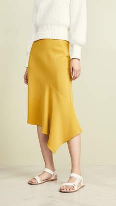 TSE Draped Bias Skirt