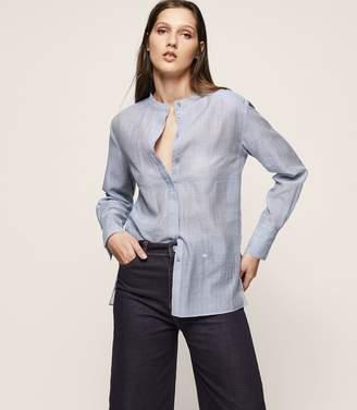 Reiss Blue Long-Sleeved Shirt