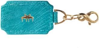 Okapi Key Ring / Crystal Blue Ostrich