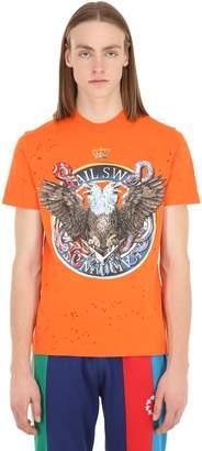 Swatsky Eagles Print Cotton Jersey T-shirt