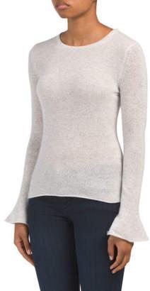 Cashmere Fluted Cuff Sweater