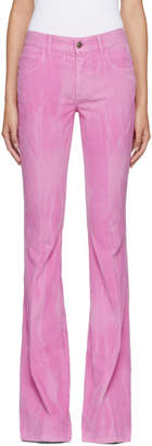 Gucci Pink New Flare Corduroy Trousers