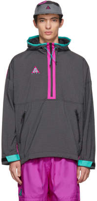 Nike ACG Grey and Purple Grid Track Jacket