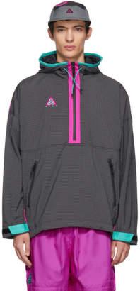 Nike ACG Grey and Purple Grid Track Jacket
