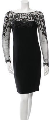 La Perla Embroidered Bodycon Dress w/ Tags $275 thestylecure.com