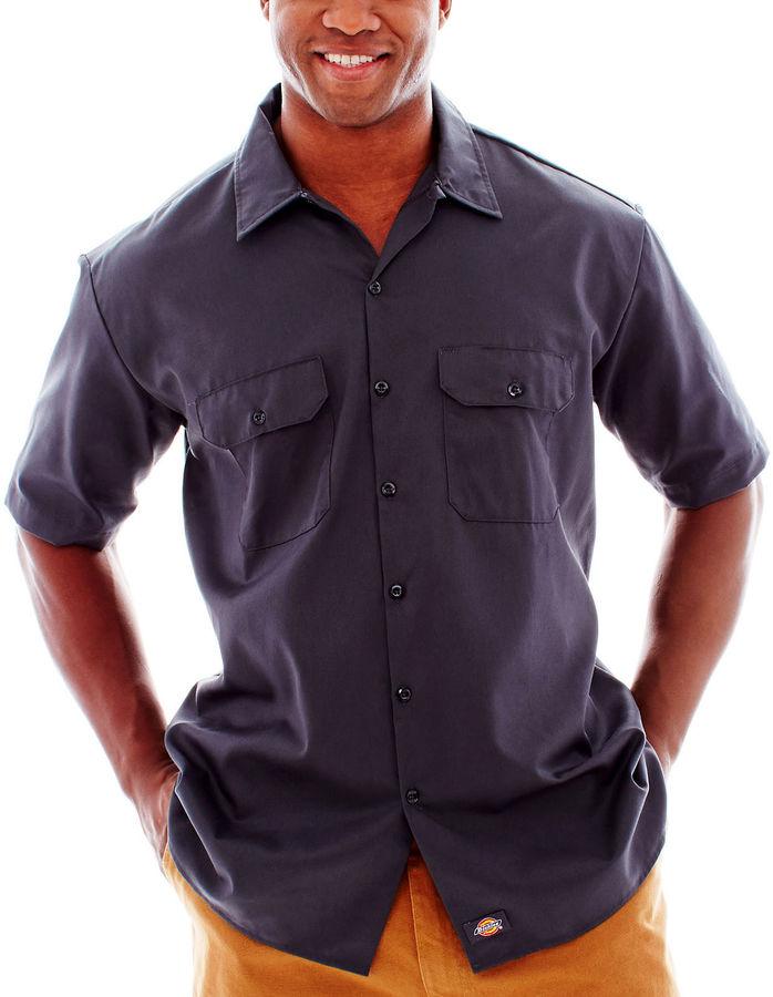 Dickies short sleeve work shirt big tall shopstyle for Tall mens work shirts