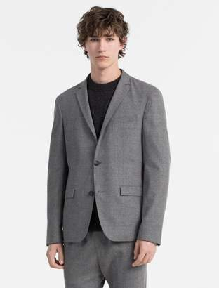 Calvin Klein slim fit wool flannel blazer