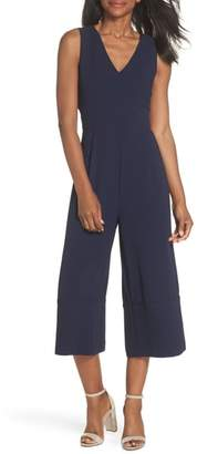Vince Camuto Crepe Cropped Jumpsuit