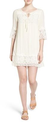 Women's Sanctuary Simone Lace Trim Gauze Dress $139 thestylecure.com
