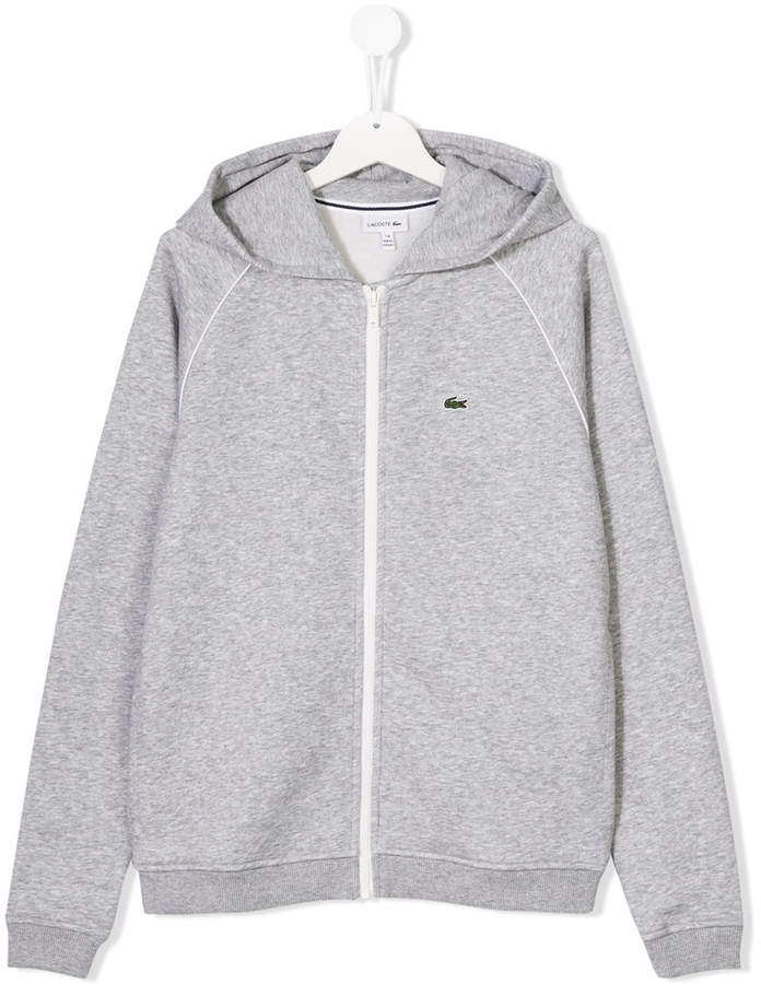 Lacoste Kids hooded zip jacket