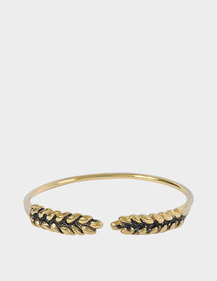 Aurélie Bidermann Wheat Cuff Bracelet in 18K Gold-Plated Brass