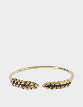 Aurélie Bidermann Wheat Cuff Bracelet in 18K Gold-Plated Brass pB6KH