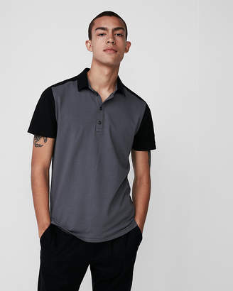 Express Color Block Performance Polo