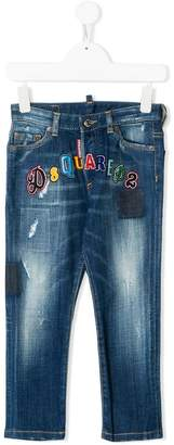 DSQUARED2 logo patch jeans