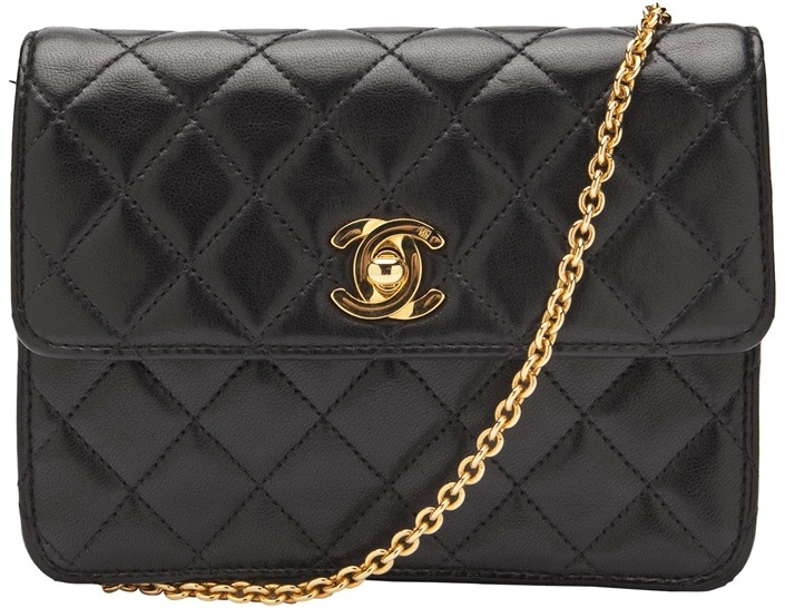 CHANEL VINTAGE Mini classic quilted bag