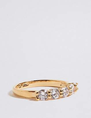 Marks and Spencer Diamanté Five Stone Ring