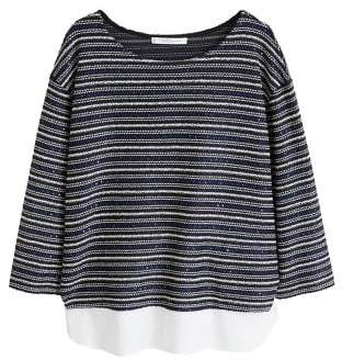 Violeta BY MANGO Metallic thread sweatshirt