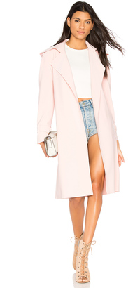 Norma Kamali Double Breasted Trench $385 thestylecure.com