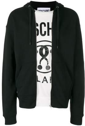 Moschino zip front hoodie