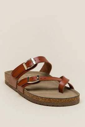 Madden-Girl Brycee Strappy Footbed Sandal - Cognac