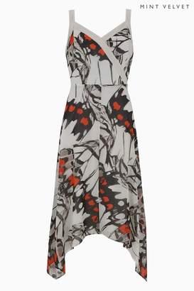 Next Womens Mint Velvet White Arden Print Trapeze Dress