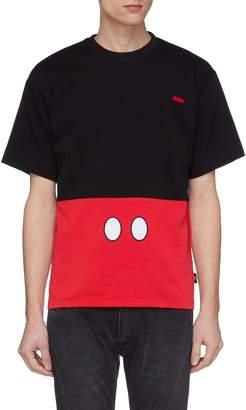 GCDS x Disney Mickey Mouse colourblock logo print T-shirt