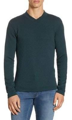 Armani Collezioni Geometric Relif Cotton Sweater
