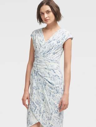 DKNY Twist-Bodice Sheath Dress