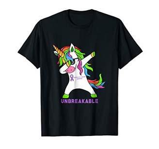 Pancreatic Cancer Warrior Unbreakable Unicorn Shirt